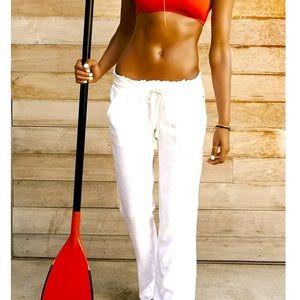 Roxy sz small cream color drawstring beach pant